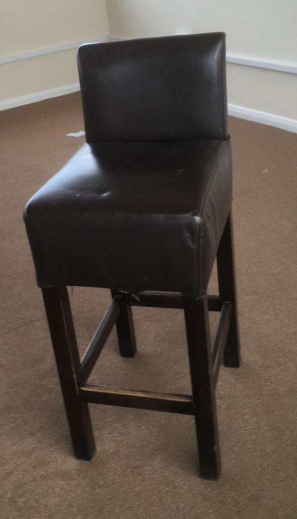 Leather High Stools with Back