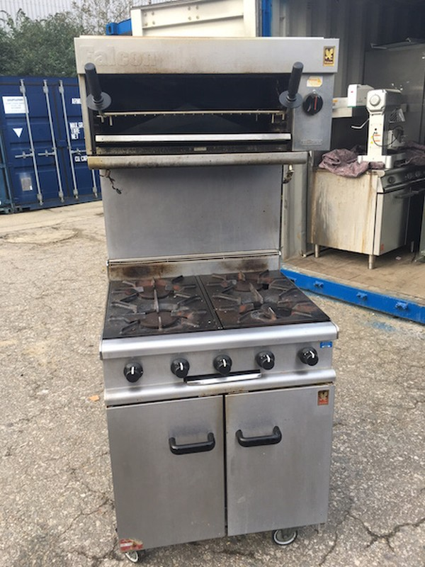 Falcon 4 Burner Oven with Salamander Grill