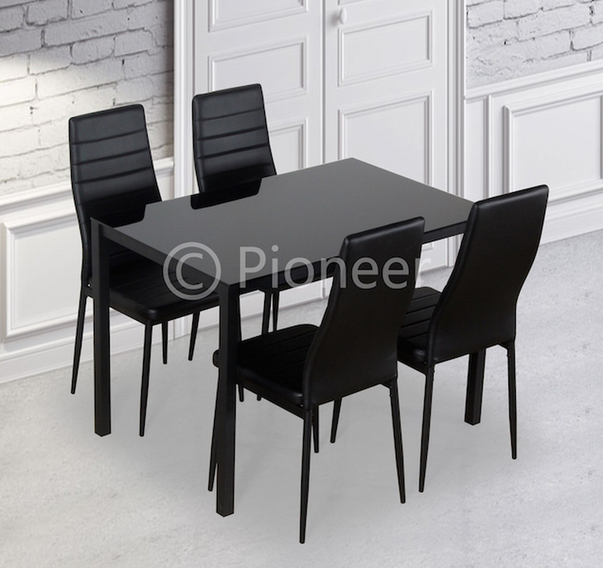 Dining Table With 4 Or 6 Chairs Black For Clearance Prices