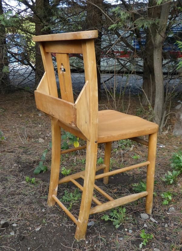 Harlech Beech Clover Leaf Back Chapel Church Chairs