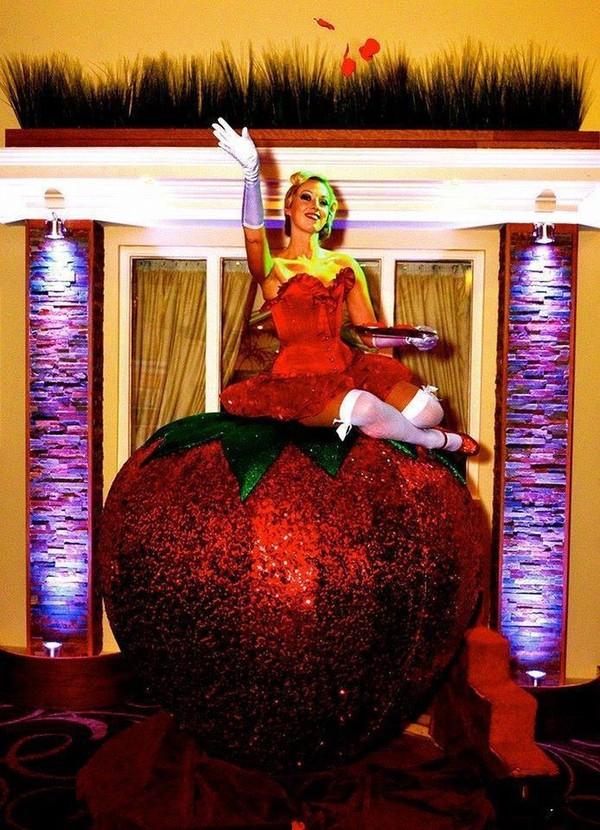 Gigantic Sequin Strawberry prop