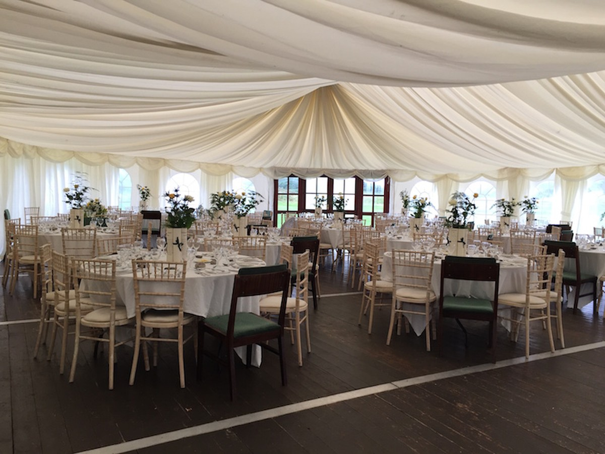 24m x 12m marquee all you need to start a hire business wedding venue