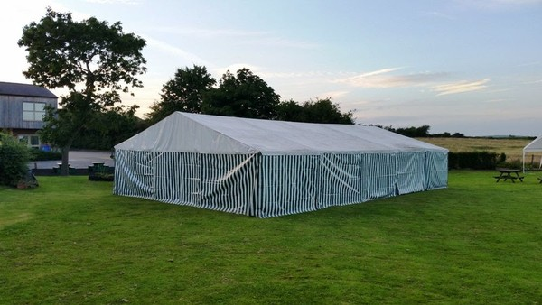 Two 9m x 9m Heavy Duty Marquees