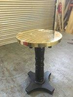 Brass Top Poseur Tables