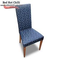 Blue Upright Fabric Chairs x4 (Ref: RHC1974) - Warrington, Cheshire