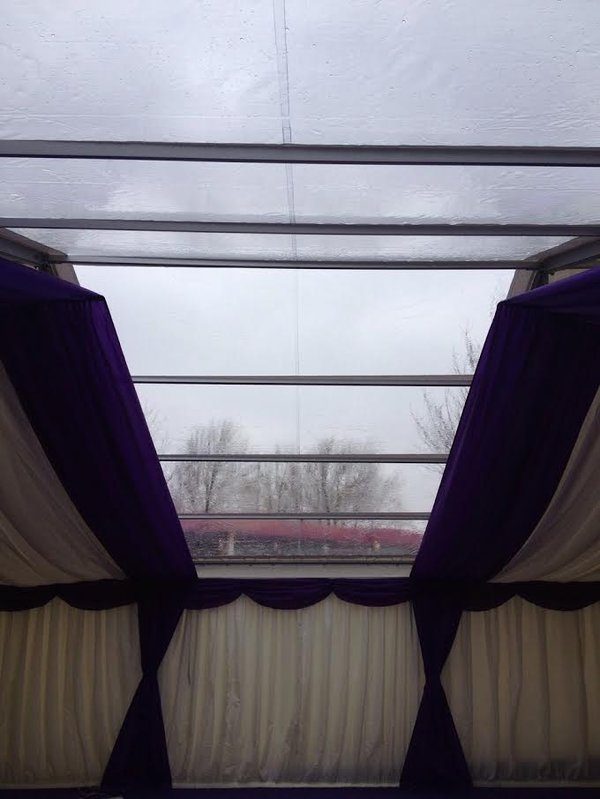 Clear marquee roof