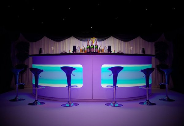 Round LED Portable Bar