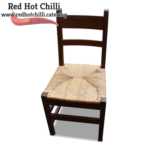 Darkwood Chairs with Weaved Seats x6 (Ref: RHC1966) - Warrington, Cheshire
