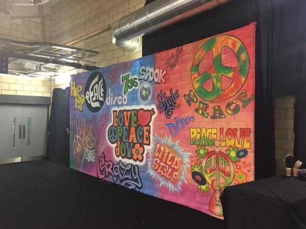 70's 80s 90s Grafitti Backdrop