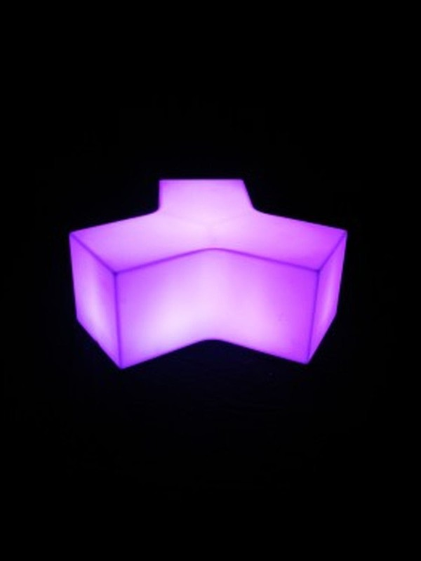 2 x Illuminating Coffee Tables and 8 x Illuminating Curved Benches