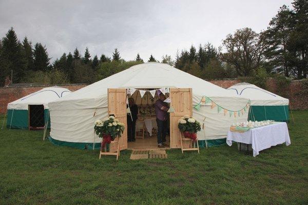 30 Foot Diameter Yurt with Wooden Floor