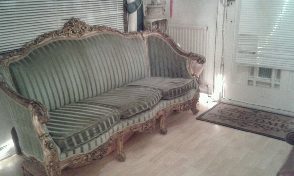 Antique vintage ornate french gilt chaise longue for Chaise longue for sale uk