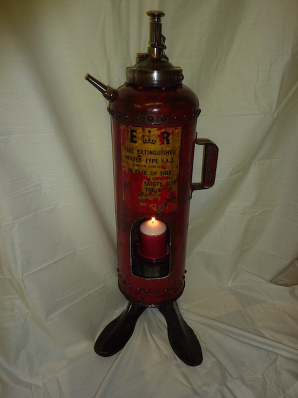 Repurposed Vintage fire extinguisher