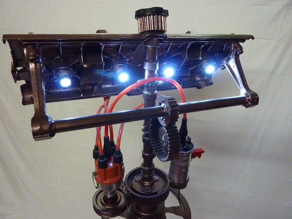 Repurposed Porsche Standard Light / Desk Light
