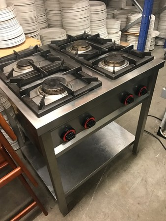 4 Ring Gas Hob On Stand