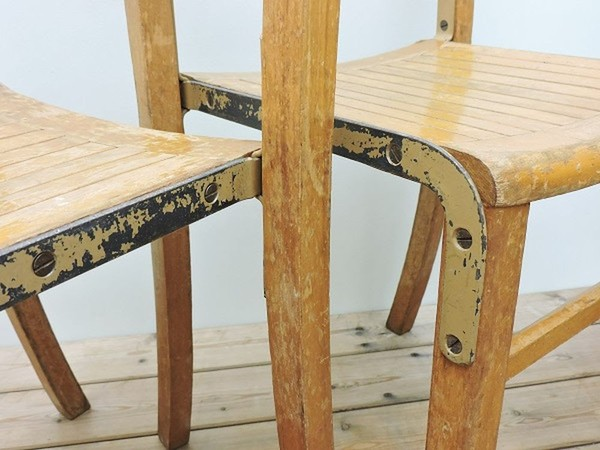 34 Stacking Chairs Vintage Church Chapel School Industrial Retro