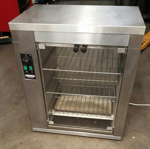 Heated food display cabinet