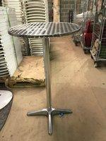 5x Aluminium Poseur Tables