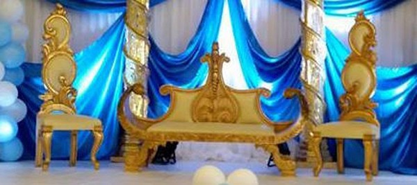 Wedding Chaise Longue + Crown Stage Props