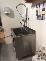 Stainless Steel Sink with Underneath Cupboard, Drain Pipe, Pre Rinse Spray with Tap