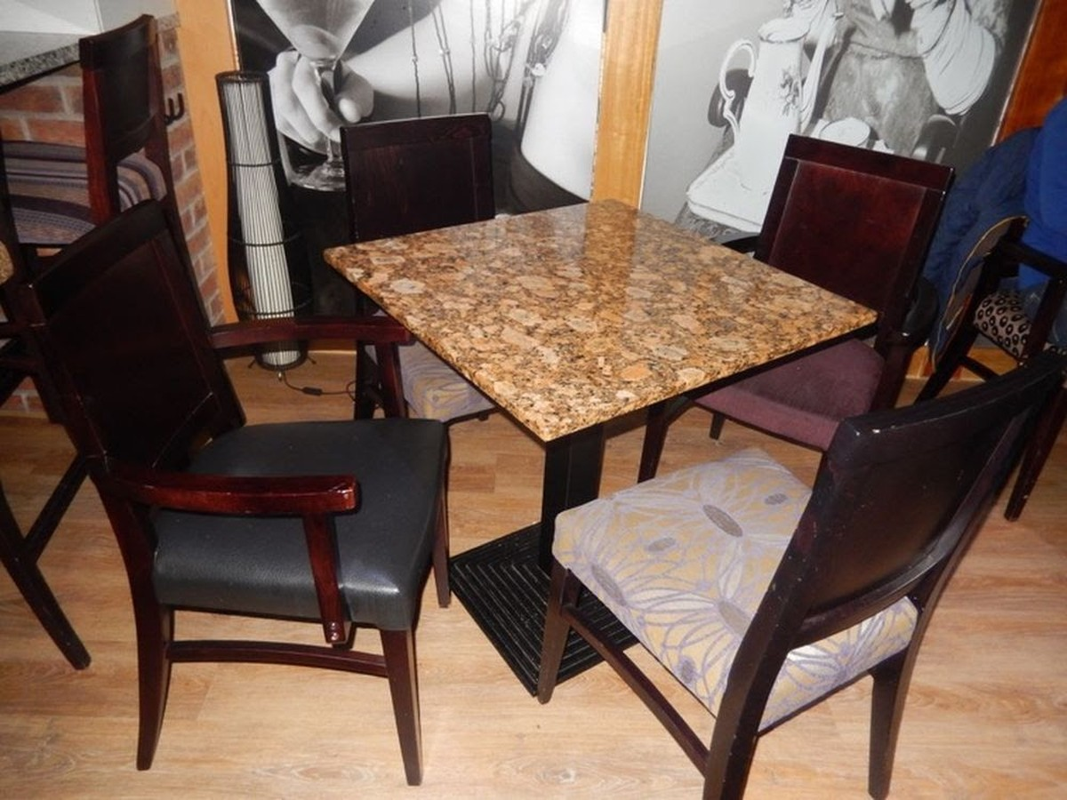 Secondhand chairs and tables restaurant quality