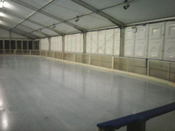 The Ice Skating Rink Dasher Boards 58 m x 28m