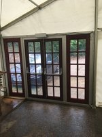 3m wide wooden marquee doors