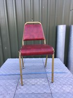 Gold and Red Banqueting Chairs