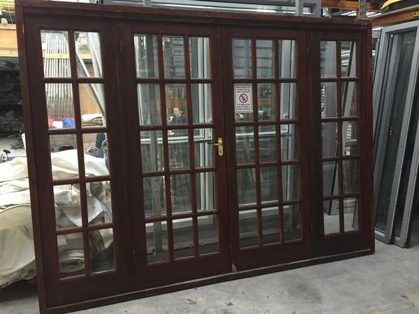 Wooden marquee doors