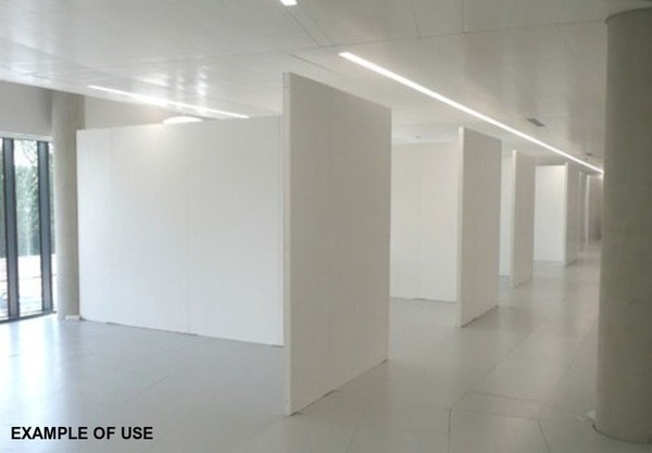 Flexibitions Jix-A-Wall Flexible Art Gallery Exhibition Display System