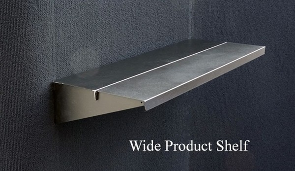 Wide product shelf