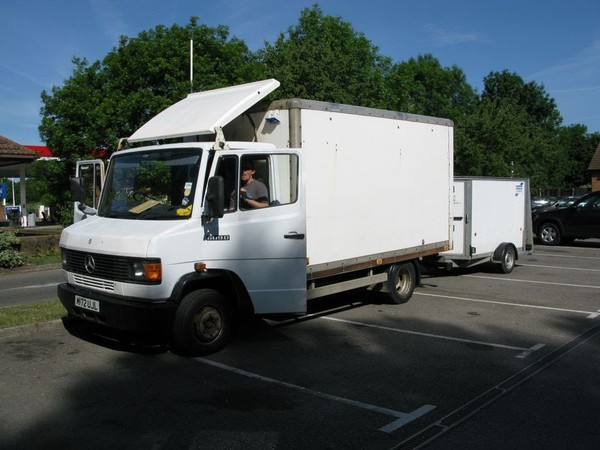 Festival Market Stall, Mercedes 609d Box Truck and Trailer