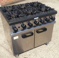 6 Burner Gas Commercial Range Oven