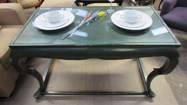 Green Console Tables x 6