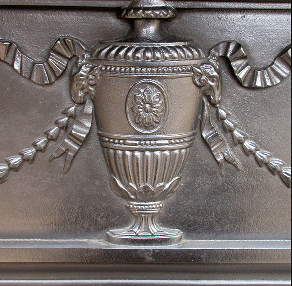 Urn & Ribbon Cast Iron Surround