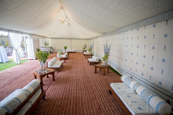 Indian benches - wedding marquee