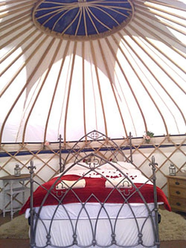 yurt with  canvas