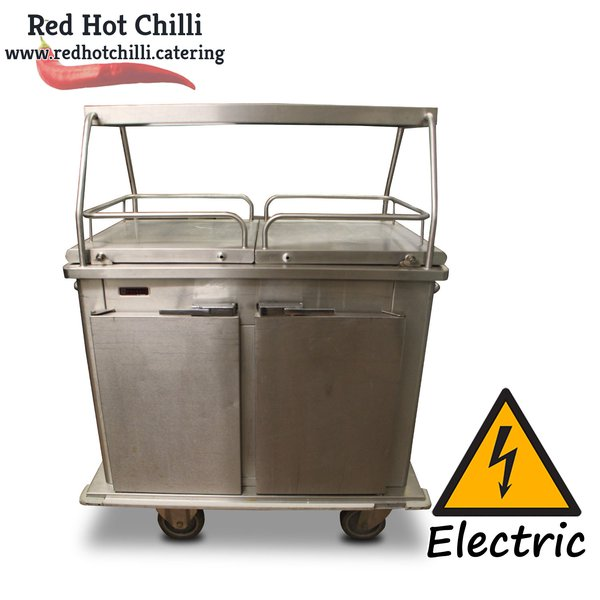 Hot cupboard / serving trolley