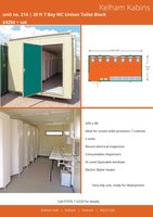 20ft x 9ft Unisex Portable Toilet Block