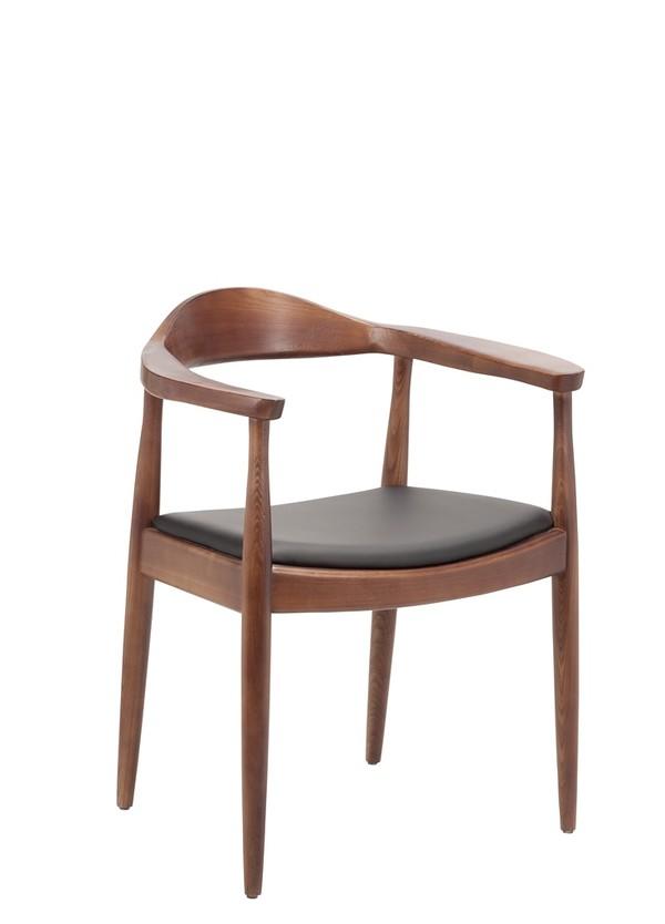 Forli Armchair Solid Ash Walnut Finish Wood Chairs