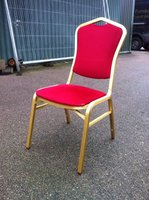 Crown Back Aluminium Banqueting Chairs Red and Gold