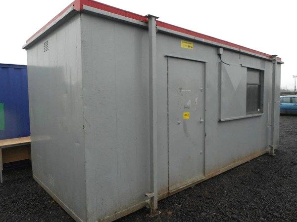 21' x 8' Open Plan Anti Vandal Jackleg Office Portable Building Container Store
