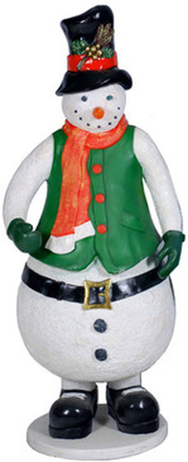 5/6ft tall snowman prop with orange scarf