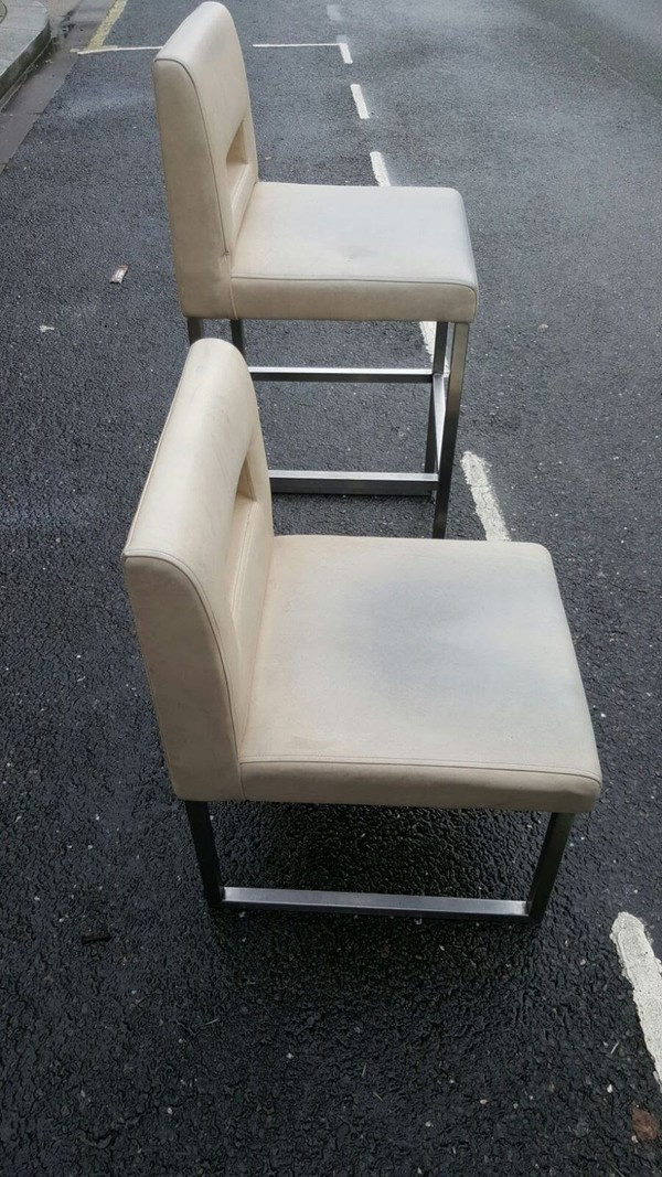 70x White Vinyl Chairs