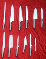 Set of 12 Global Japanese Professional Chef Knives
