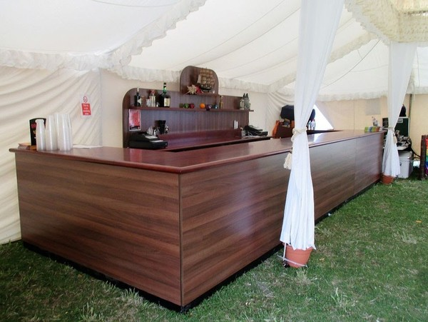 Large Cherry & Walnut Mobile Bar