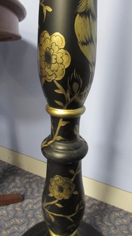 Chinoiserie hand-painted standard lamp x 10