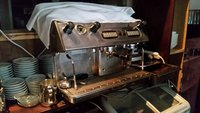 2 group coffee machine with grinder
