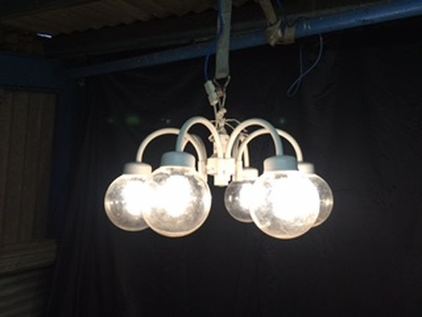 6 Arm Globe Light Fittings Small / Large