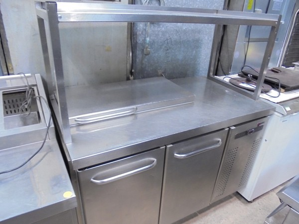 Gram Stainless Steel Double Door Bench Fridge (4417)